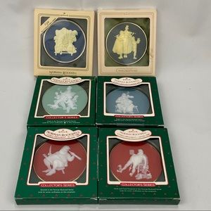 Vintage Norman Rockwell Cameo Ornaments